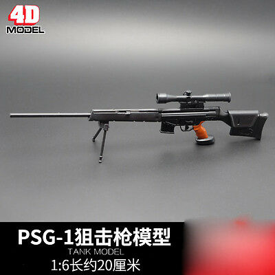 "PSG-1 MODO Sniper Rifle Weapon Gun For 1/6 Scale12"" Action Figure 1:6 Model Toy"