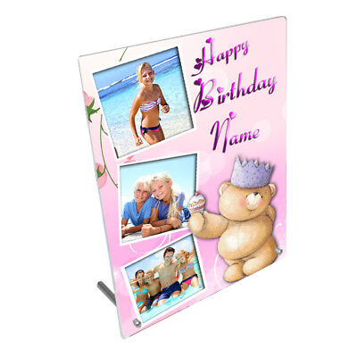 """Personalised Photos, Special Gift 8"""" x 10"""" Toughened Glass Frame With Peg Stand"""