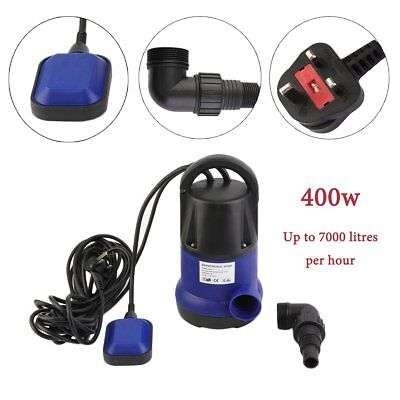 400W Submersible Dirty Clean Water Pump with Float Switch for Pools, Cellars UK