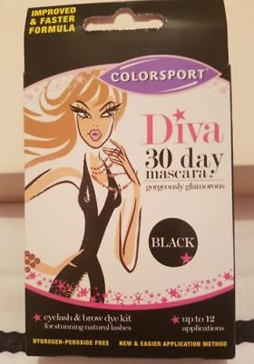 DIVA - 30 DAY MASCARA - EYELASH & BROW DYE KIT - BLACK UP TO 12 applications