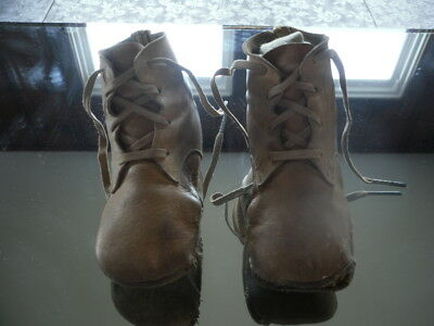 Antique Leather BABY SHOES BOOTS Collectible Child's Vintage Clothing ACCESSORY
