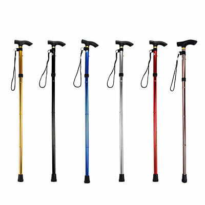 Walking Cane Adjustable Aluminum Metal Cane Walking Stick Folding Crutch