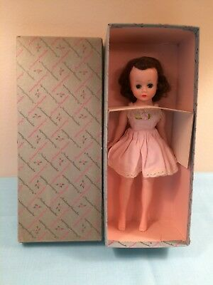 VTG Madame Alexander Cissette Doll #801 Bent Knee w/Original Box-slip-panties