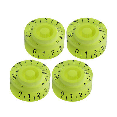 4PCS LP SG Style Electric Guitar Knobs Volume & Tone Control Knobs Green Color