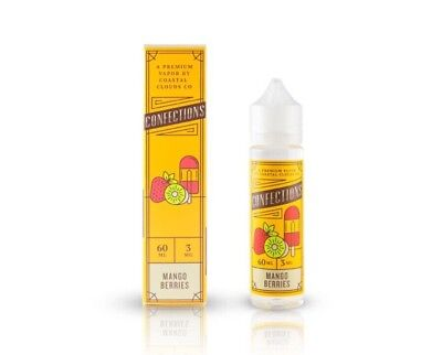 50ml Confections By Coastal Clouds Mango Berries E Liquid Vape Juice 0mg