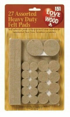 Felt Pads Furniture Leg Self Adhesive Scratch Floor Protectors 30Pk Assorted