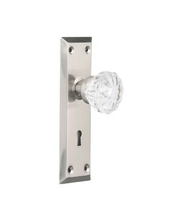 Ultra Security Entry Lock Mortise Lock with Skeleton Key & Glass Door Knobs