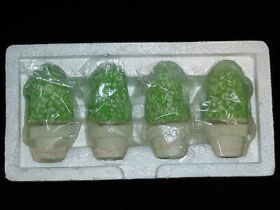 NEW ~ Dept 56 Snowbunnies Spring Easter SHRUBS-IN-A-TUB Set of 4 #2612-3