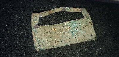Lovely 13th 14th Century Medieval copper alloy casket mount once gilded L64b