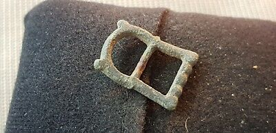 Post Medieval copper alloy buckle L64h
