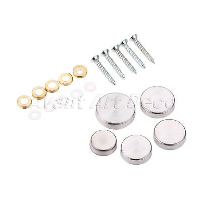 16-25mm Stainless Steel Screw Caps Mirror Nails Advertisement Decorative 20Pcs