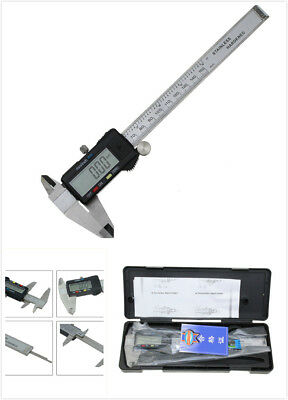 "150mm 6"" LCD Vernier Caliper Digital Electronic Carbon Fiber Micrometer Gauge"