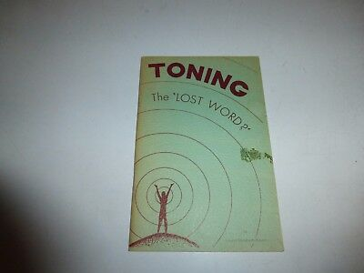Toning: The Creative Power of the Voice by Laurel Elizabeth Keyes PB 1968 B1