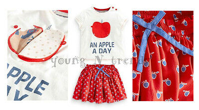 BNWT NEXT 2-3*4-5 years girl APPLE T-SHIRT/TOP*RED SKIRT SET/BUNDLE