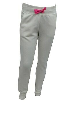 Girls Ex H&M Joggers Sweat Pants Bottoms Off White Size Age 8 to 15 Years Kids