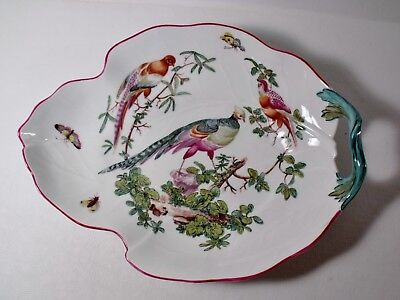 "Mottahedeh WILLIAMSBURG Reproduction CHELSEA BIRD 12"" Leaf Dish Platter MINT"