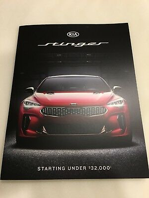 2018 KIA STINGER 12-page Original Dealer Brochure