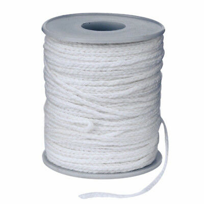 60M/Roll Spool of Cotton Square Braid Candle Wicks Wick Core Candle Making PQ