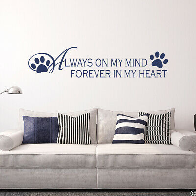 Always On My Mind Forever In My Heart Vinyl Wall Decal 999