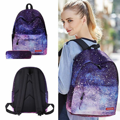 Galaxy School Bag Backpack for Teen Teenage Girls Kids, Unisex Collection Canvas