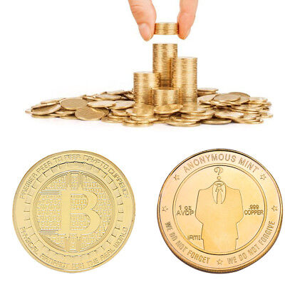 3mm Thickening Gold Anonymou Mint Bitcoin Commemorative Coin Collection Souvenir