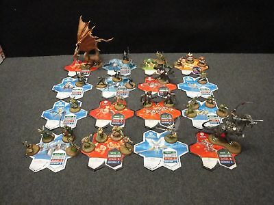 Heroscape Lot Of 30 Figures With Character Game Cards