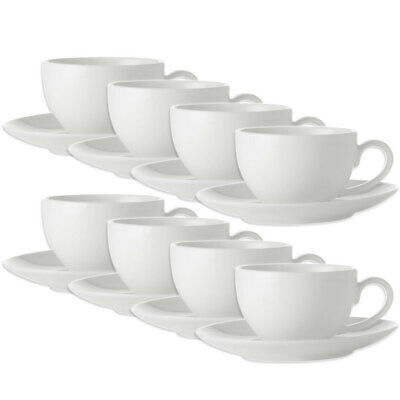 16pc Maxwell Williams White Basic Espresso Coffee Cup Saucer Set 100ml/Porcelain