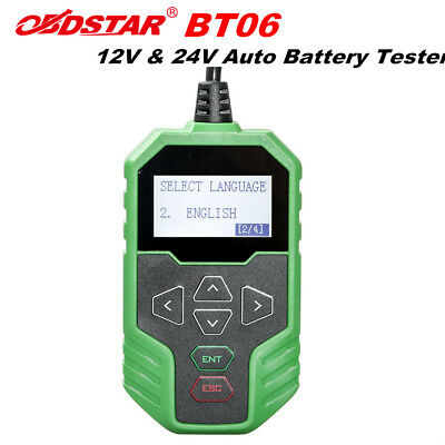 OBDSTAR BT06 Automotive Battery Tester for 12V/24V Starting and Charging System