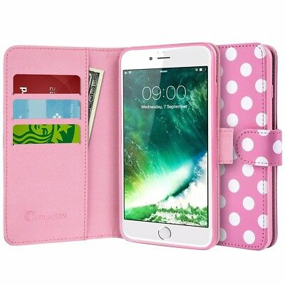 iPhone 7 Case,i-Blason [Wallet Case] Credit Card ID Holders, Apple Iphone 6-Dal/