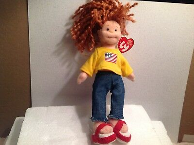 2002 Ty Beanie Baby American Millie Girl Plush Stuffed Toy Colorful
