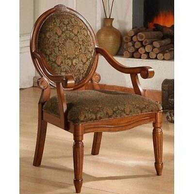 Vintage Arm Chair Antique Design Classic Solid Wood Frame Armchair Sitting Room