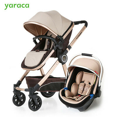 Baby Stroller 3 in 1 Prams with Car Seat for Newborns Baby Pushchair Buggy