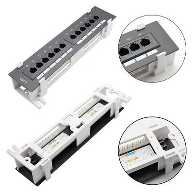 US New 12 Port 110 Network CAT5e RJ45 Wall Surface Mount Patch Panel Bracket Kit