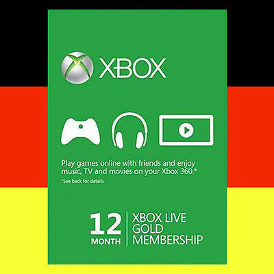 Xbox One 360 Live Gold 12 Monate Mitgliedschaft Karte 12 Month Card Code