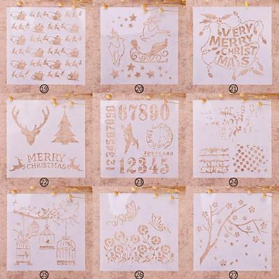 Christmas Drawing Airbrush Painting Stencil Kids DIY Craft Album Party Decor New