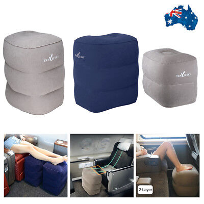 New Inflatable Foot Cushion Home Rest Pillow Flight Travel Legs Pad 2/3 Layers