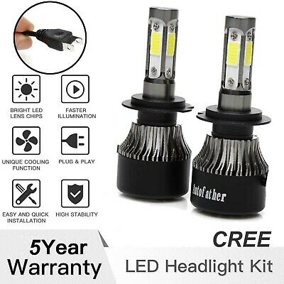 CREE H7 LED Headlight 300W 30000LM Lamp Bulbs 6000K Bright For Hyundai Sonata