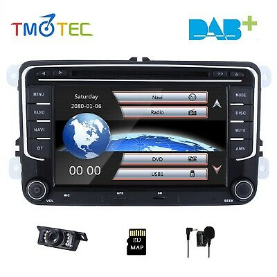 "7"" Car DVD Player Radio GPS SatNav Stereo VW Passat Golf Transporter T5 +Camera"