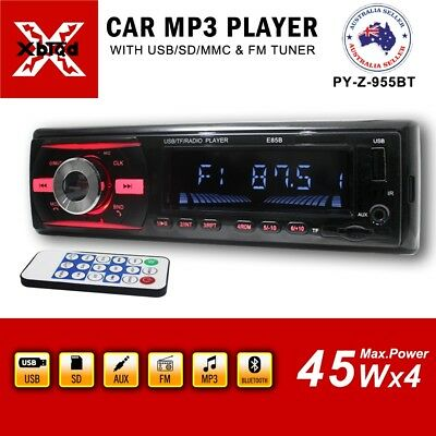 955BT Single Din Non CD Player Car Stereo FM USB SD Bluetooth Radio Stereo