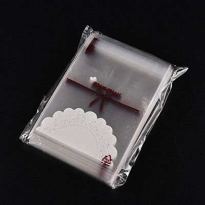 100pcs lace Self Adhesive Cookie Candy Package Gift Bags Cellophane Birthday