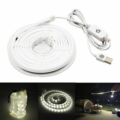 Camping LED Strip Light Kit 5V USB Rope String Light Waterproof for Outdoor Bulb