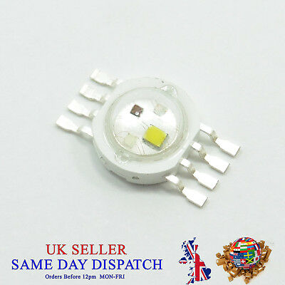 4x1W High Power SMD LED RGBW Chip Diode Emitting Lamp Bead Bulb PCB 4W