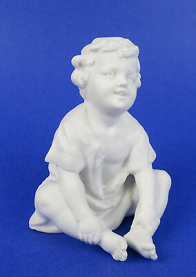Antique Heubach White Bisque Boy Piano Baby Porcelain Figurine German Figure