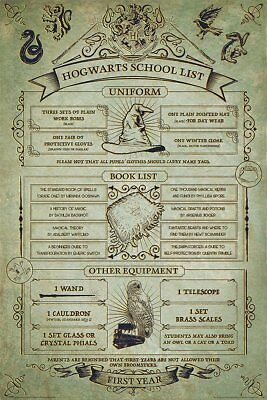 "Harry Potter Hogwarts School List -  Maxi Poster 24"" x 36"""