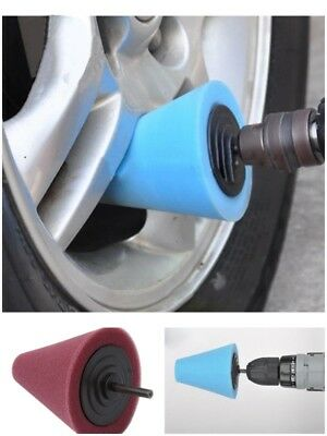 Auto Car Care Polishing Sponge Cone Metal Foam Car Wheel Cleaning Tool