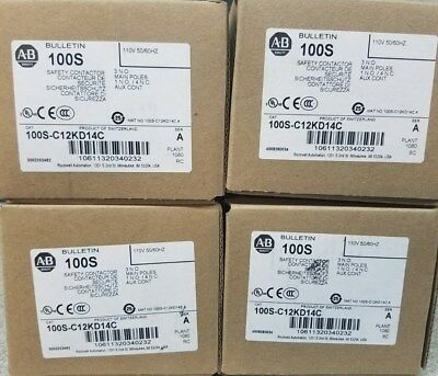 Allen-Bradley 100S-C12KD14C Safety Contactor LOT OF 4!!!!!!!!!!