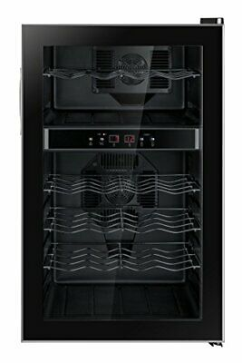 Dual-Zone Thermo-Electric Wine Cooler (24-bottles)