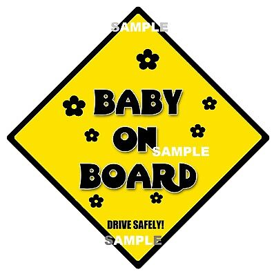 BUB ON BOARD - Traditional Sign - MADE IN AUSTRALIA - Peel Off Strips FREE POST
