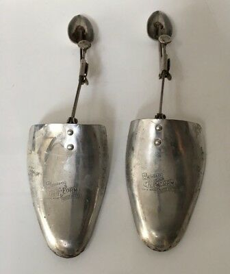 Old Vintage True Form Shoe Trees by J Sears Size M 11x12 Made in England