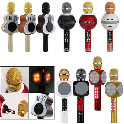 Portable M9 Guitar Mini Mic WS878 Funny Smile Mic WS1816 LED Light Microphone